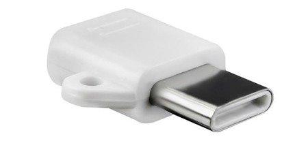 ADAPTER OTG micro USB - typ C - USB 3.0 - z otworem na brelok