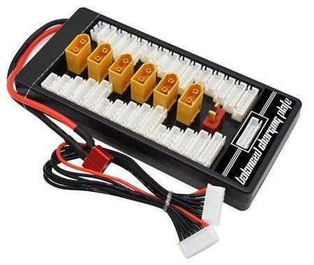 Adapter Ładowarka - HSM-142A B6 - 6x XT60 - równoległe ładowanie 6 akumulatorów - złącze DEAN do ładowarki