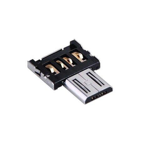 Adapter OTG - Przejściówka - USB A wtyk na micro USB