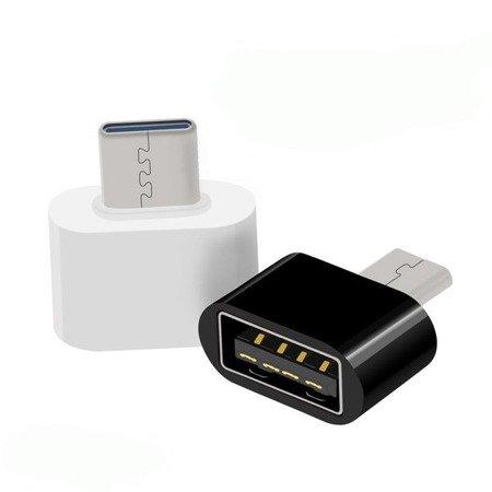 Adapter - Przejściówka - USB na USB typ C - biały- OTG