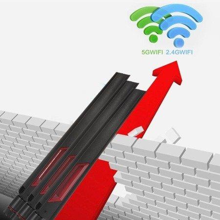 Antena WIFI 12dBi RP-SMA - dwuzakresowa 2.4GHz i 5G 5.8 GHz