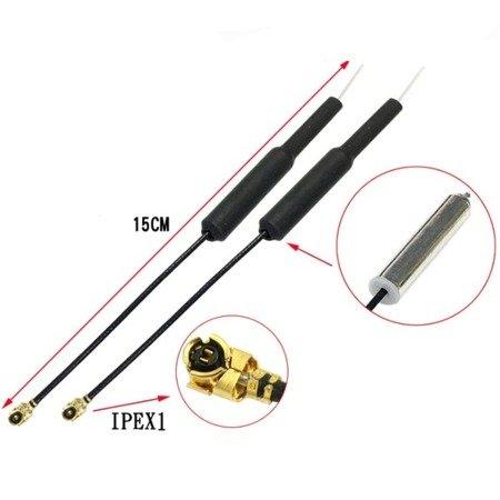 Antena ze wzmocnieniem sygnału - 150mm wtyk IPEX1 - 2,4GHz - do odbiorników FrSky XSR