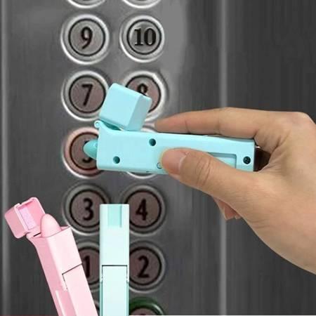 Asystent do bezdotykowego otwierania drzwi - niebieski - przenośny przycisk windy