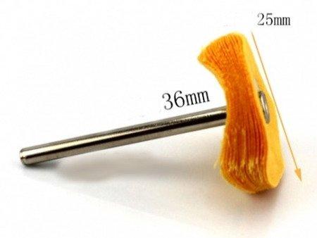Bawełniana końcówka do polerowania 25mm - do dremela, mini gumówki
