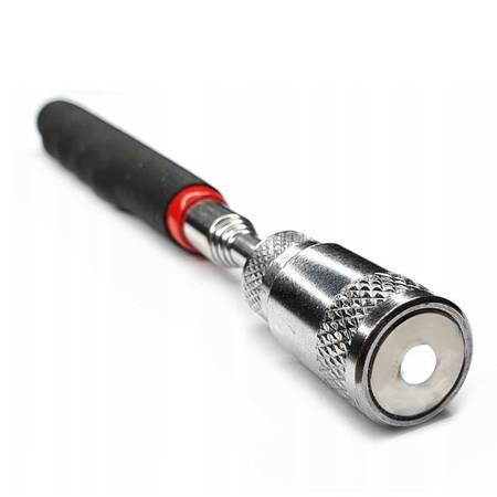Chwytak magnetyczny teleskopowy z LED  - 80 cm - składany