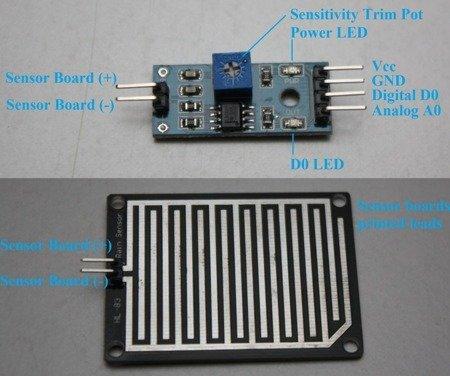 Czujnik deszczu FC-37 - detektor wody do Arduino - 3-5V