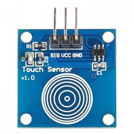 Czujnik dotykowy pojedynczy TTP223B - Touch Sensor do Arduino