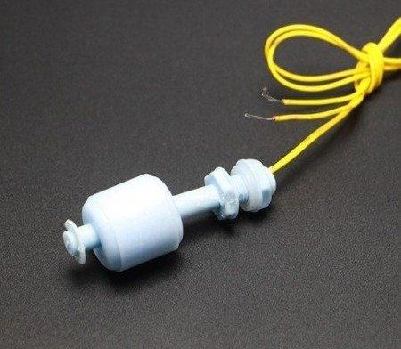 Czujnik pływakowy poziomu cieczy, wody - M10 - 52mm - włącznik pływakowy prosty - pionowy