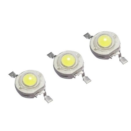 Dioda Power LED SMD - 1W - 105-120lm - światło białe zimne - 8000-10000K