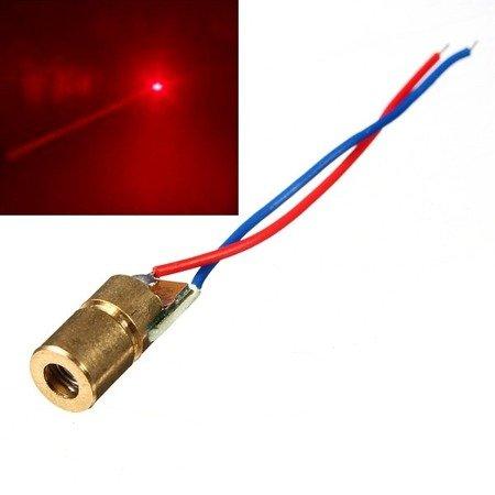 Dioda laserowa 5V 650nm 5mW kolor czerwony