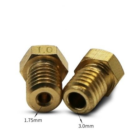 Dysza 0,4mm M6 - Filament 3,0mm - H12.5mm - Stożkowa - RepRap E3D V5 V6