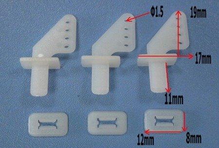 Dźwignia Sterów - zaciskana - 21x11 mm - Orczyk