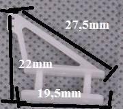 Dźwignia Sterów - zaciskana - do modeli depronowych - Orczyk
