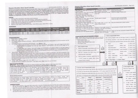 ESC ABC-Power Air 30A 2-3S - BEC 1A - Prosty regulator silników samolotowych