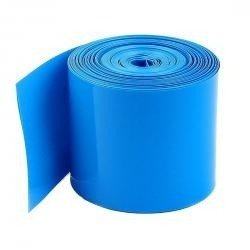 Folia termokurczliwa - rękaw PVC szer. 25mm - niebieska - na 1 akumulator 18650 - 1mb