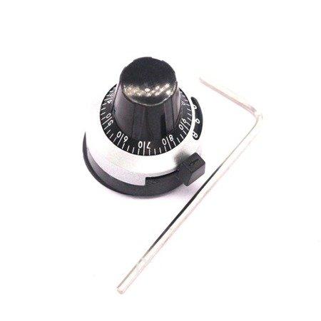 Gałka z przekładnią do potencjometru RDK-III-6.35 mm - pokrętło cyfrowe