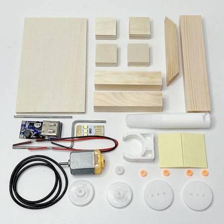 Generator prądu na korbkę - DIY - Drewniana Zabawka Edukacyjna