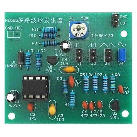 Generator przebiegów - NE555 - DIY - moduł generatora impulsów fal