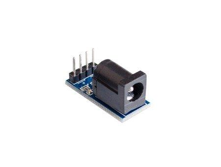 Gniazdo DC 2,1/5,5mm do płytki stykowej z LED - gniazdo zasilania płytki stykowej