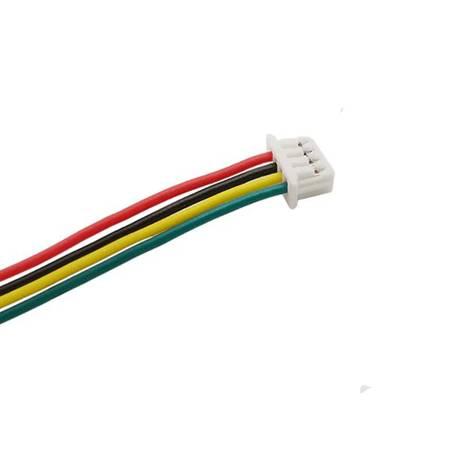 Gniazdo Micro JST z przewodem 100mm - 4 PIN raster 1.25 - MCX - żeński (female)