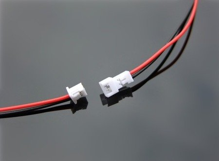 Gniazdo Micro JST z przewodem 120mm - 2 PIN raster 1.25 - MCX - żeński (female)