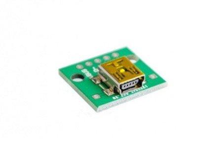 Gniazdo Mini USB do płytki stykowej KIT - Gniazdo Mini-USB - Mini DIP