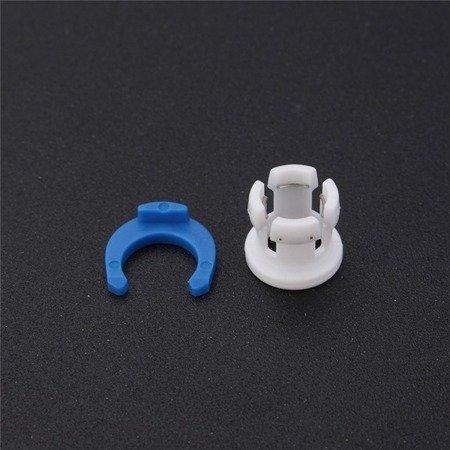 Klips na złącze bowdena - filament 3mm - klips, zacisk do rurki bowdena - Drukarka 3D