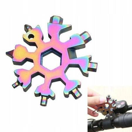Klucz SNOWFLAKE - 18w1 - Narzędzie wielofunkcyjne brelok - Multi Tool