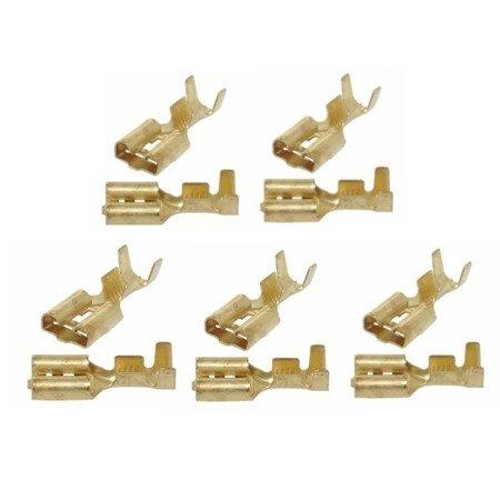 Konektor nieizolowany płaski żeński - 6.3mm - na kabel 1-2.5mm2 - 10szt