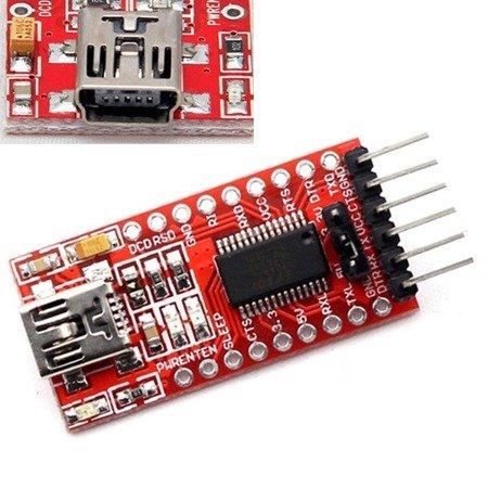 Konwerter RS232 - FT232 - FTDI USB/TTL - 5V/3,3V - UART - Arduino