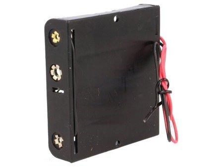 Koszyk na baterie 4xAA (R6) - koszyczek płaski otwarty BH-341-1A