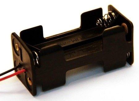 Koszyk na baterie 4xAAA 1,5V - Kostka - koszyczek kwadrat na baterie