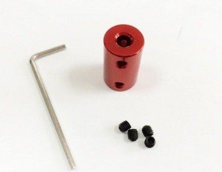 Łącznik osi - adapter z 4mm na 8mm - na wał silnika - oś