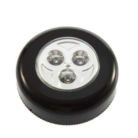 Lampka dotykowa - bezprzewodowa - 3 diody LED - samoprzylepna