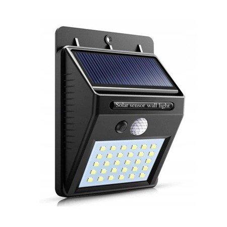 Lampka solarna 30x LED - lampa z czujnikiem zmierzchu i ruchu