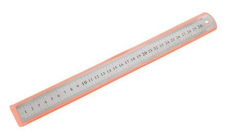 Linijka metalowa 30 cm - 12 cali - dwustronna - precyzyjna