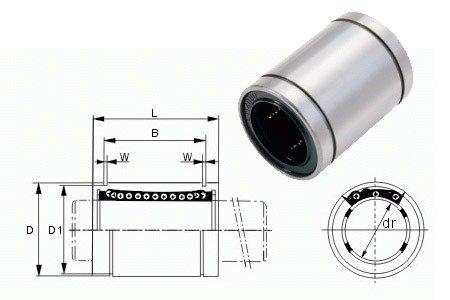 Łożysko liniowe LM6UU 6mm - RepRap 3D CNC