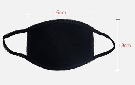 Maseczka ochronna 2-warstwowa - biała - maska wielokrotnego użytku