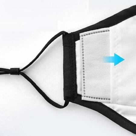 Maseczka ochronna 4-warstwowa - czarna - z kieszonką na filtr PM2.5