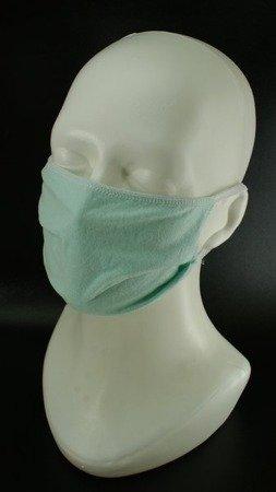 Maseczka ochronna bawełnianio-elastanowa z gumką (cena za 5 szt) - wielokolorowe 2-warstwowe