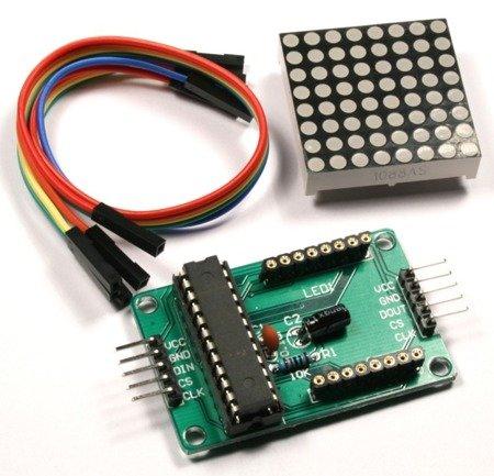 Matryca LED 8x8 ze sterownikiem MAX7219 - LED czerwony