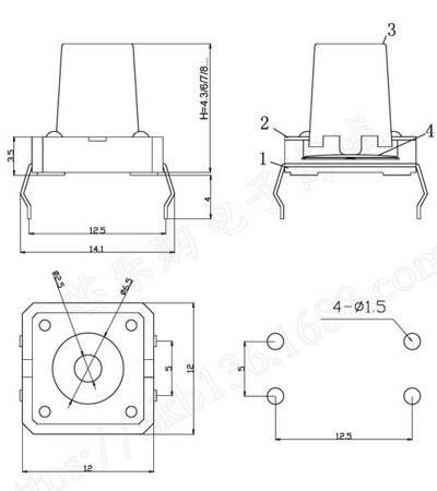Mikrostyk TACT 12x12x10mm - mikroswitch - 10 szt