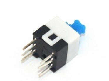 Mikroswitch 7x7mm - włącznik stabilny - 6 PIN - push button - 10 szt.