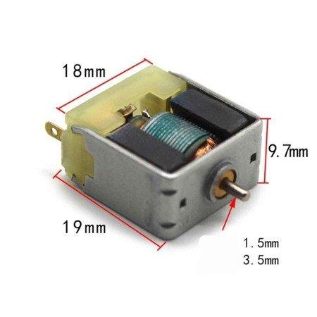 Mini silnik szczotkowy - 6200RPM - 3V DC - do zabawek i projektów DIY