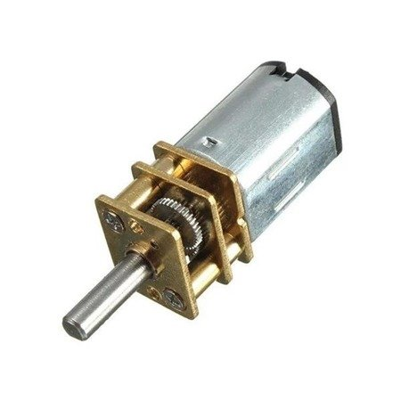 Mini silnik szczotkowy GA12-N20 - 150RPM - wał 10mm - 3-6V z przekładnią