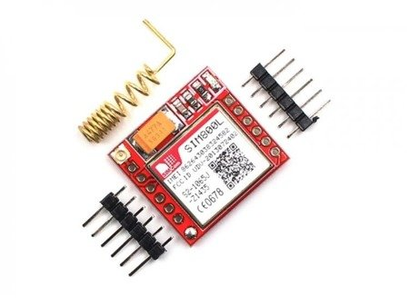 Miniaturowy moduł GSM SIM800L - MicroSim - TTL, GPRS -  3.7-4.2V