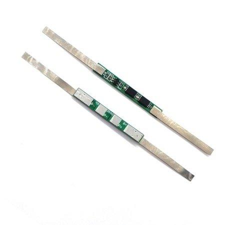 Moduł BMS PCM PCB ładowania i ochrony ogniw 18650 Li-ion - 1S -  3,7V - 5A - z blaszkami