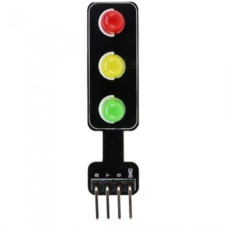 Moduł LED sygnalizacji świetlnej - 5V - 56x21x11mm
