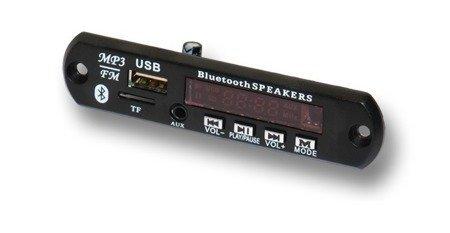Moduł audio odtwarzacz MP3 z wyświetlaczem LED - 5V - USB - SD - FM - Bluetooth + pilot