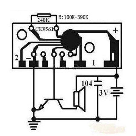 Moduł dźwięku - alarm - 3V - straż - karetka - radiowóz - karabin - KD9561